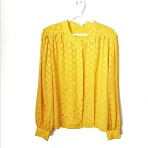 Vintage Yellow Star Blouse